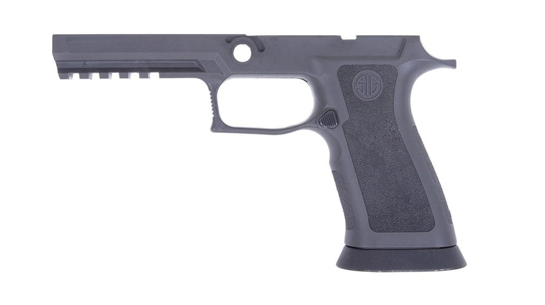 SIG P320 TXG Grip Module has weight of steel, flex of polymer