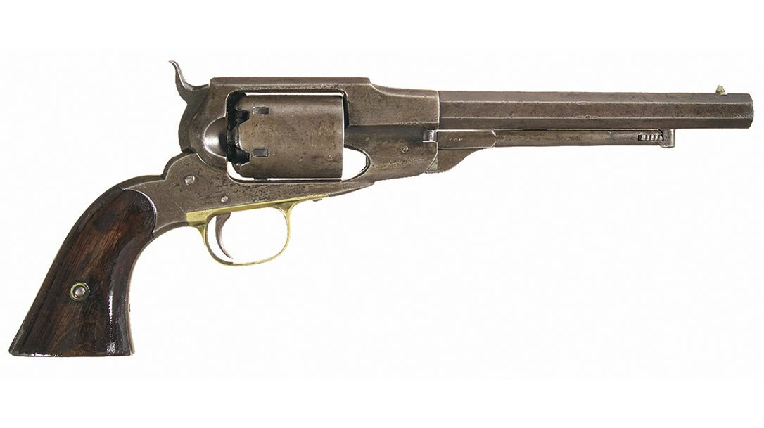 .44-caliber Remington-Beals Army looked like a Whitney model.