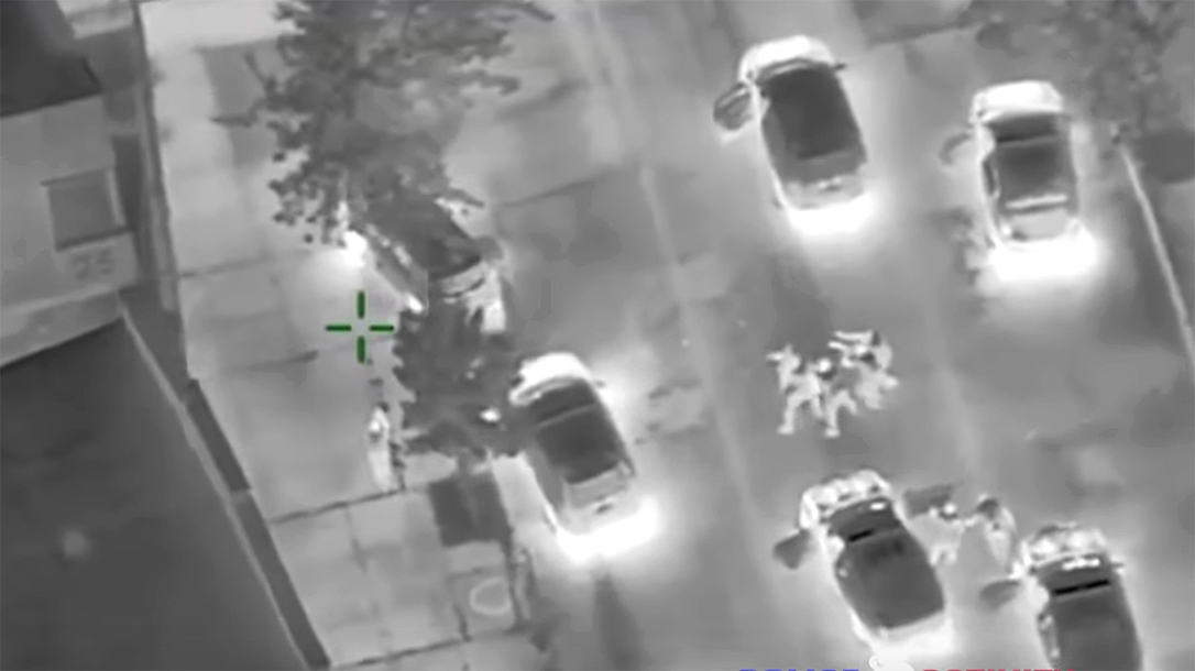 Baltimore City Police respond to armed suspect with overwhelming force.