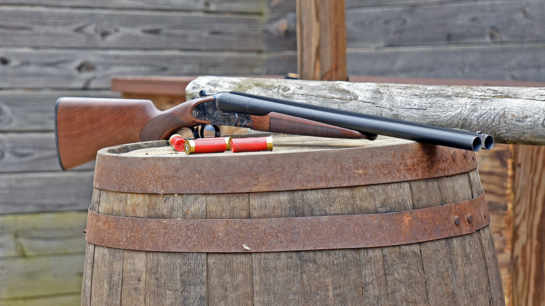 The CZ Sharp-Tail Coach gun is chambered in 12 gauge.