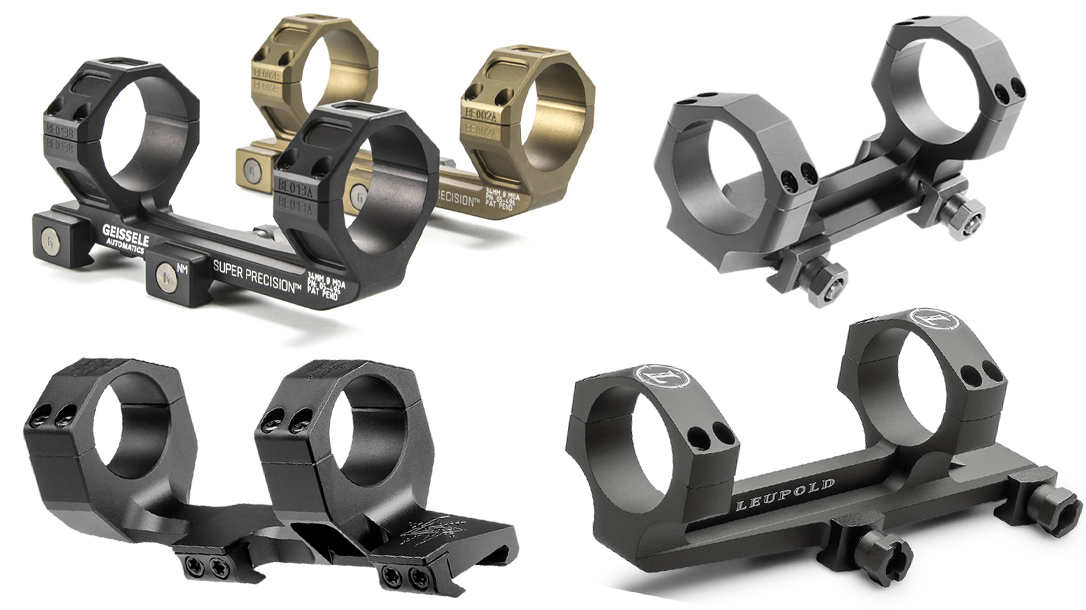 Scope ring and mount choices for long-range shooting.