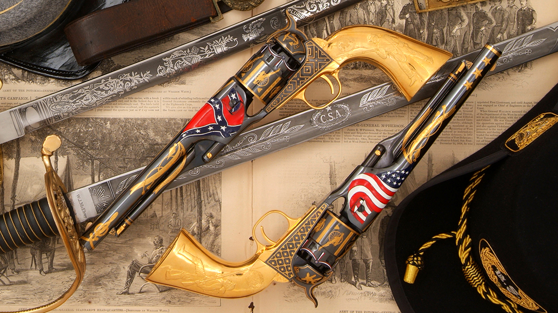 Designed by Tom Watts and engraved by Andrew Bourbon, the pistol took more than a year to complete.