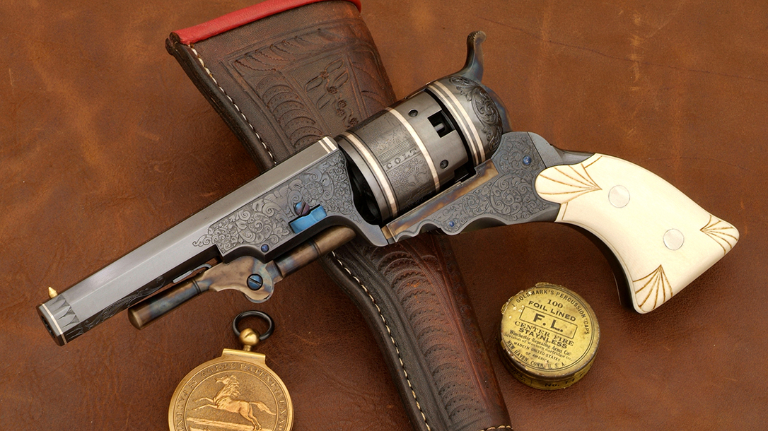 One of the second-series guns was done with a slightly aged finish for grip-maker Dan Chesiak.