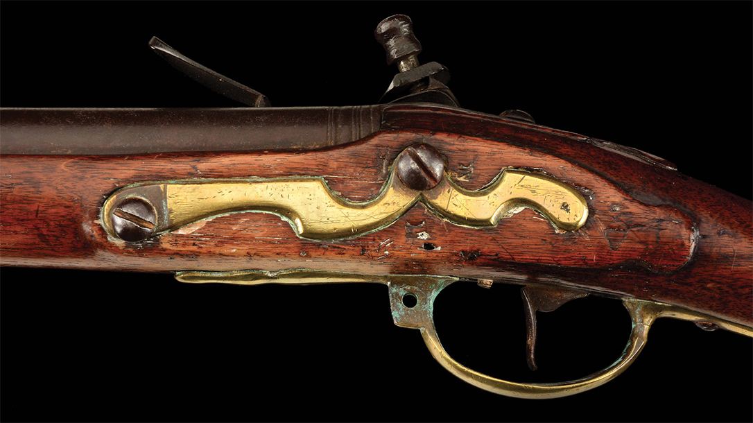Dutch Flintlock musket, receiver.