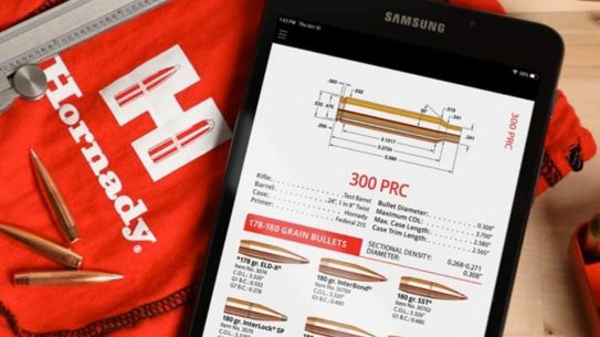 The Hornady Reloading App features volumes of handloading data.