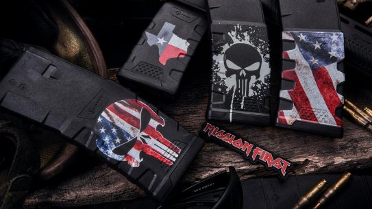Mission First Tactical Decorated Extreme Duty Magazines feature patriotic scenes.