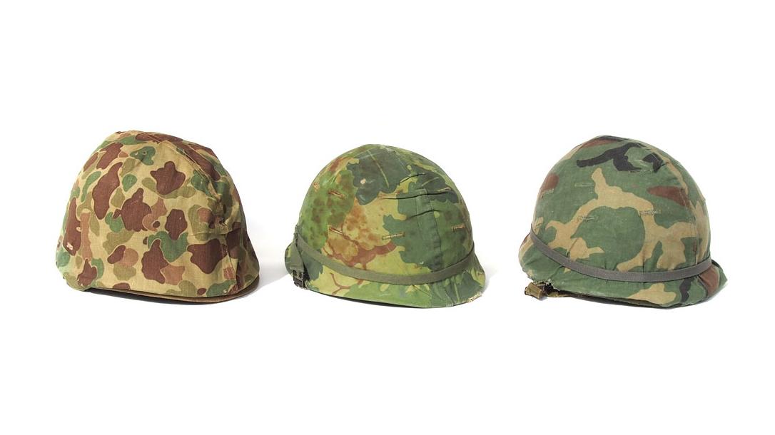 camouflage evolution, helmets
