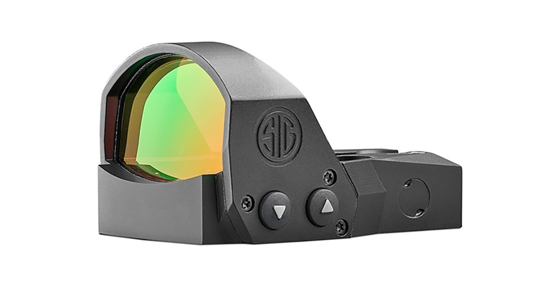 red dot sight, sauer, rendezvous, left-side view.