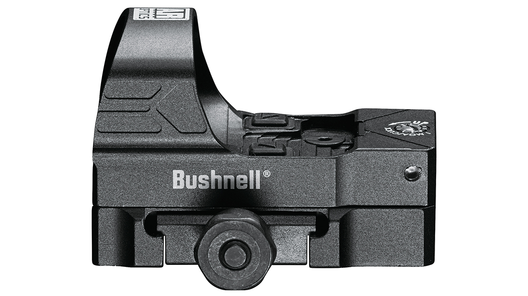 The First Strike 2.0 utilizes an Aimpoint pattern mount.