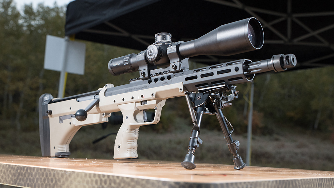 The Desert Tech SRS A2 Covert is a short, compact sniping platform.