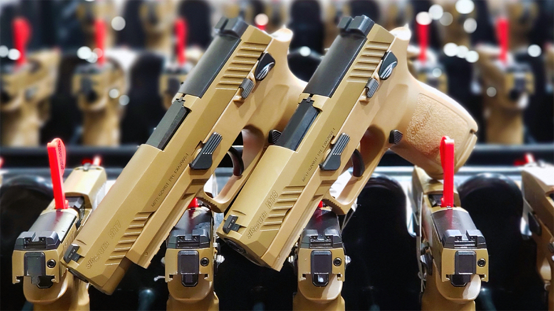 SIG Sauer has now delivered 100,000 pistols for the Modular Handgun System contract.