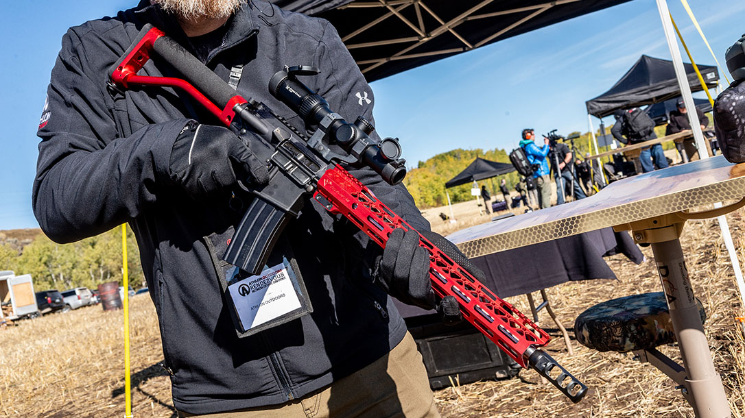 With a 16-inch barrel, the balance point moves closer to the shooter, making the rifle quick in transitions.