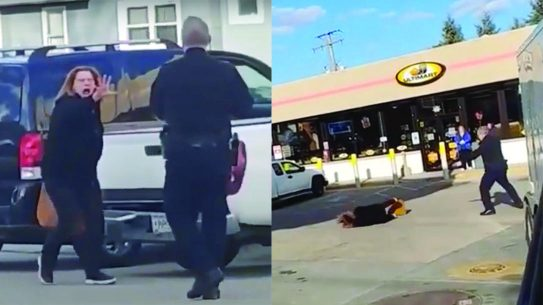 A woman attempts to perform an exorcism on a police officer.