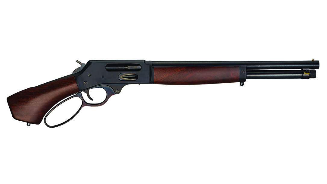 Henry Lever Action Axe .410, With just under a 16-inch barrel, the Axe is compact and nimble.