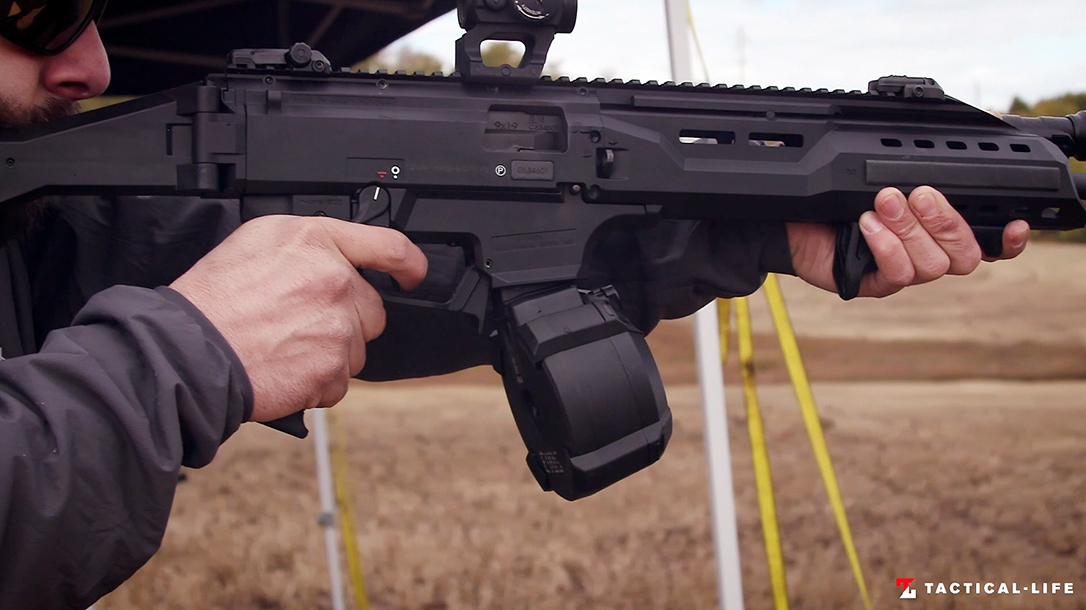 The new Magpul D-50 EV9 gives 50 rounds of 9mm to CZ Scorpion shooters.