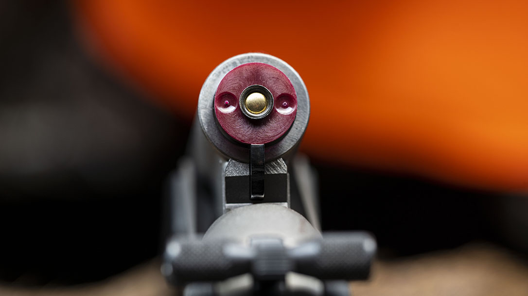 The FireStick inserts into the breech of a Traditions muzzleloader.