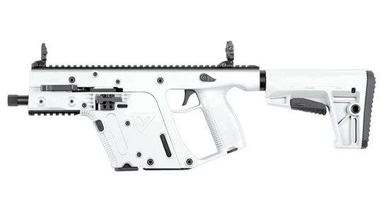 KRISS Vector 22 LR, The rimfire KRISS Vector in .22 LR looks like a storm trooper blaster.