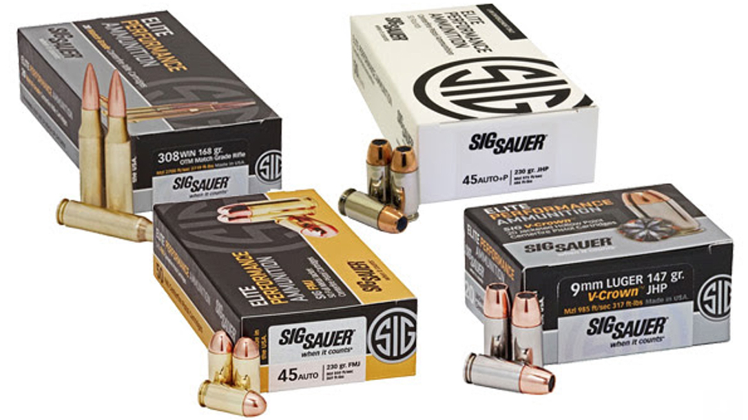 SIG won an ammunition contract from DHS worth $7.5 million.