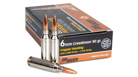 SIG adds 6mm Creedmoor to the Elite Copper line.