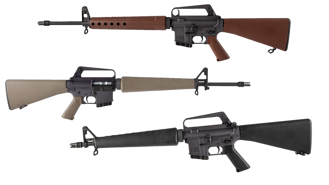 For the first time ever, Brownells is offering its popular throwback ARs available via its California Compliant Retro Rifles, bringing nostalgia out West.