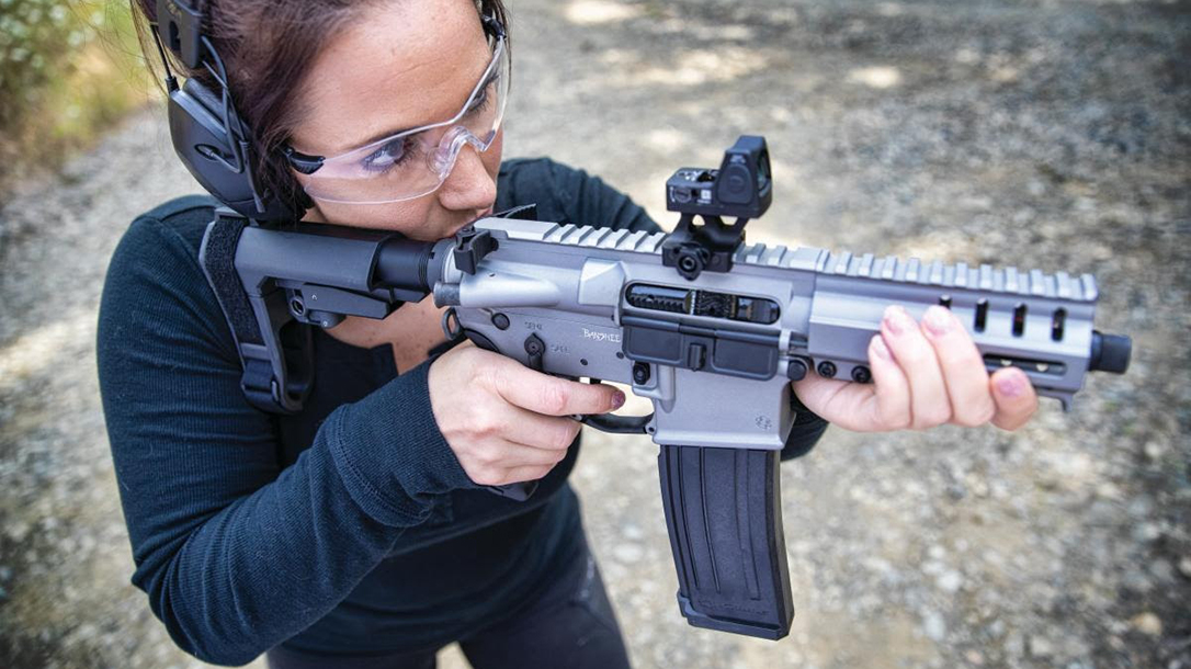 The CMMG Conversion transforms your AR to the fast 5.7x28mm cartridge.