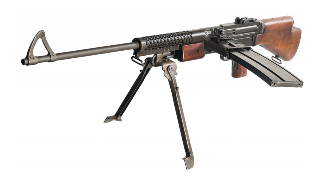 The Johnson Machine Gun saw heavy fighting with Marines in the Pacific theater.
