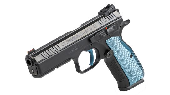 The single-action-only trigger system delivers accuracy in the CZ Shadow 2 SA.