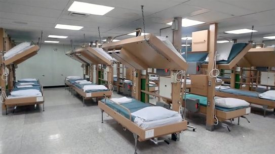 Hundreds of beds aboard hospital ships Comfort and Mercy remain empty.