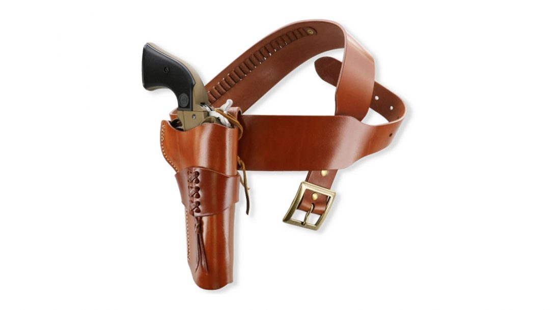 The Galco Ruger Wrangler holster brings the Old West alive.