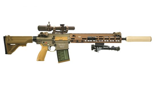 HK delivered its first shipment of the M110 Squad Designated Marksman Rifle to the U.S. Army.