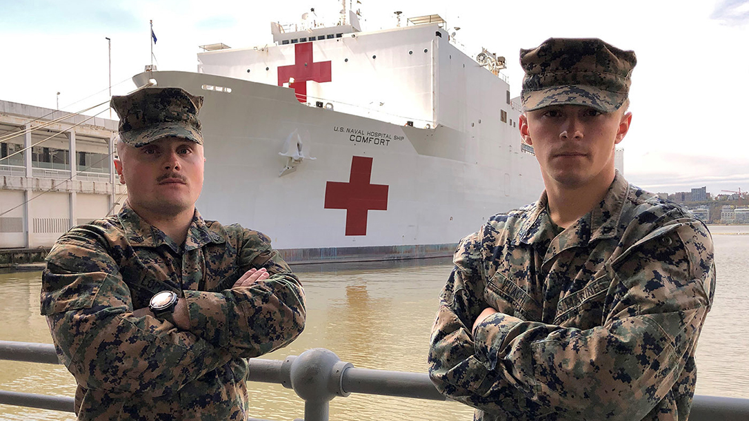 Marines save patients waiting to board USNS Comfort in NYC.