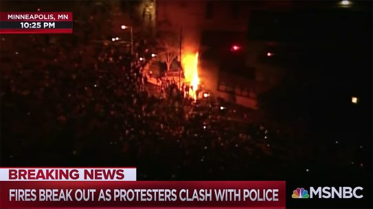 Minnesota rioters burns a police station in Minneapolis.