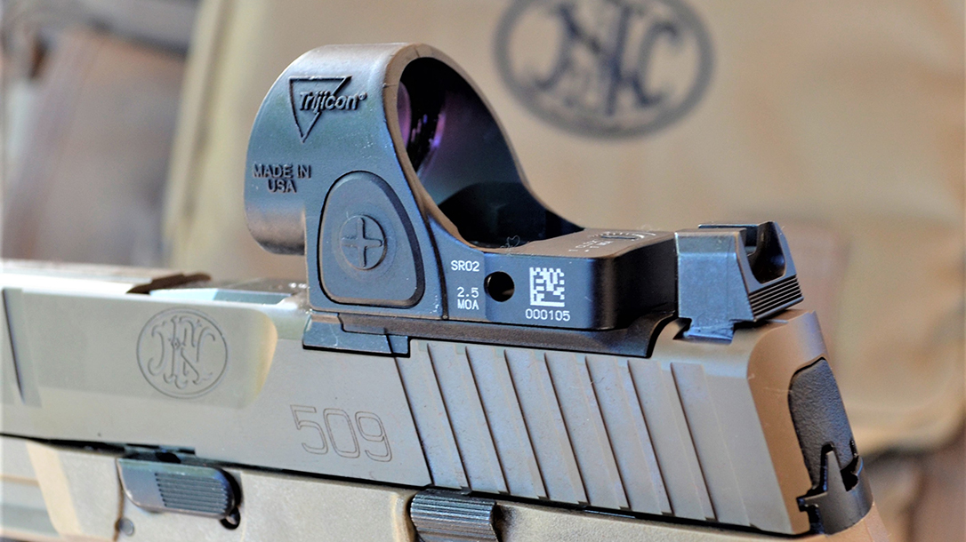 pistol test, optics-ready, trijicon SRO