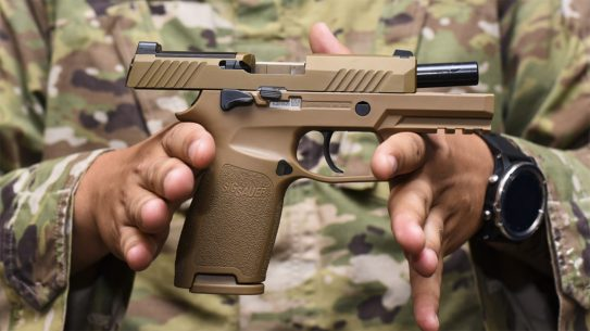 Air Force combat arms units received the SIG M18 pistol.