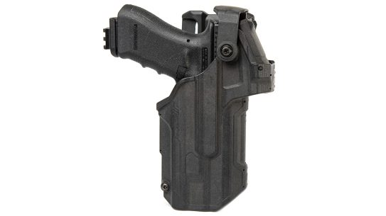 The Blackhawk T-Series RDS holster accommodates red dot sights.