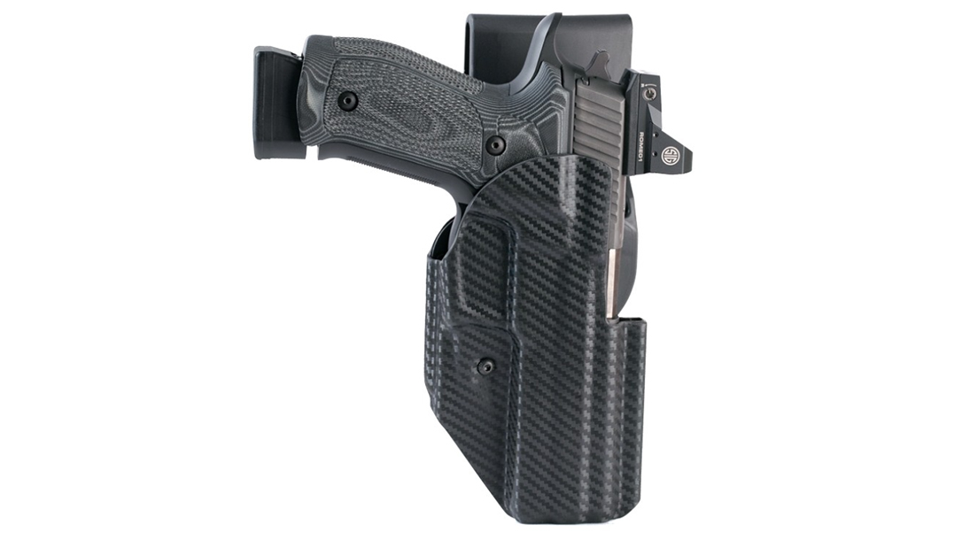 The Hogue ARS Stage 1 Sport Holster comes ready for competition.