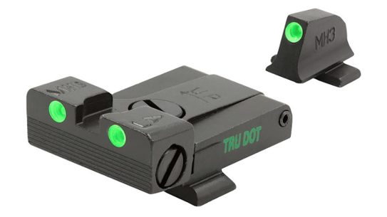 The MEPRO Self-Illuminated sights increase pistol efficiency.