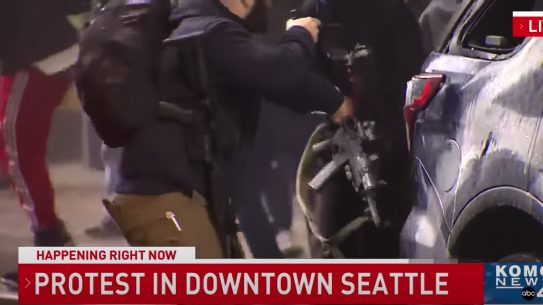 Seattle Protestor, Seattle Protest Security Guard, George Floyd Riots