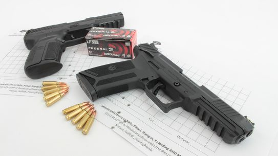The FN Five-SeveN and the Ruger-57 get put through the test.