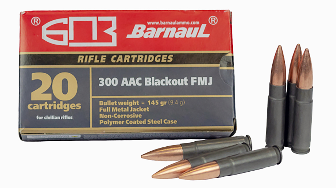 The steel-cased Barnaul Ammunition .300 Blackout cartridge saves nearly half at retail price.
