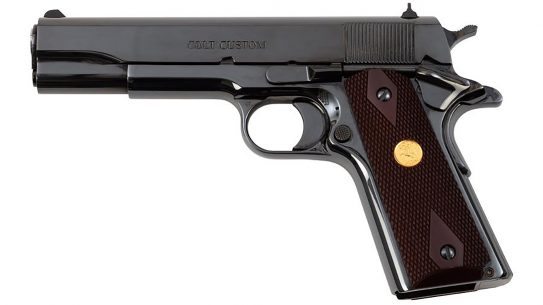 The Colt 1911 Classic sports a 70 Series firing system and royal blue finish.