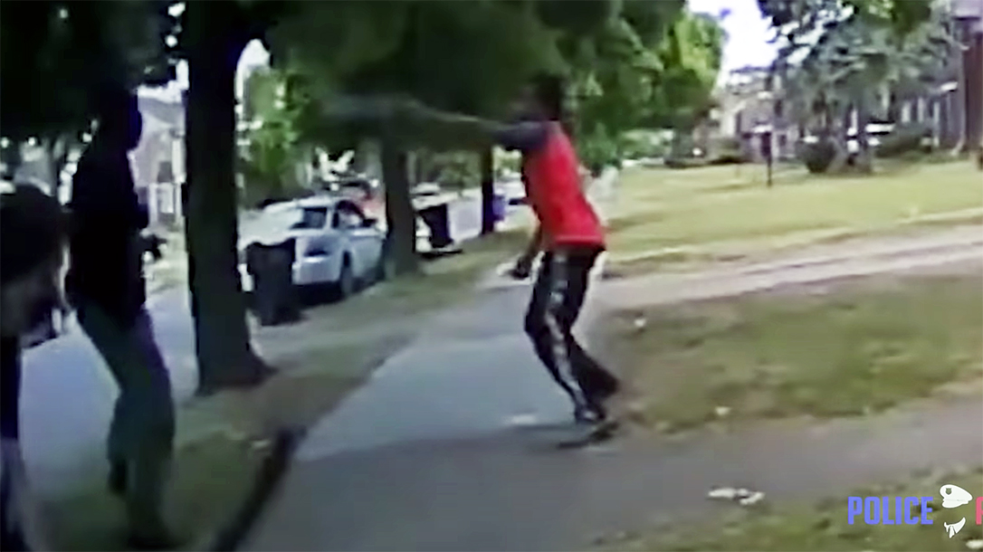 Officer body cam footage showed Hakim Littleton fired first on Detroit police.