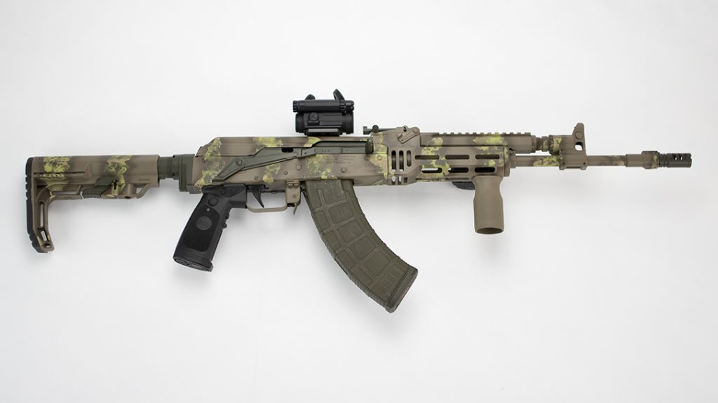 The AKM4 Stock Adapter replaces the factory stock and accommodates a collapsible stock.