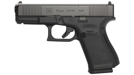 The U.S. Coast Guard selected the Glock 19 Gen5 MOS pistol for duty.