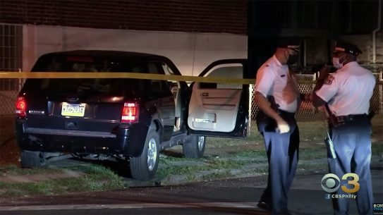Two gunmen opened fire on undercover officers in Philadelphia.