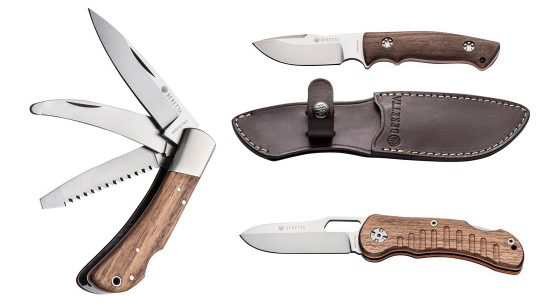 Beretta knives feature a fixed blade, folder or multi-blade option.