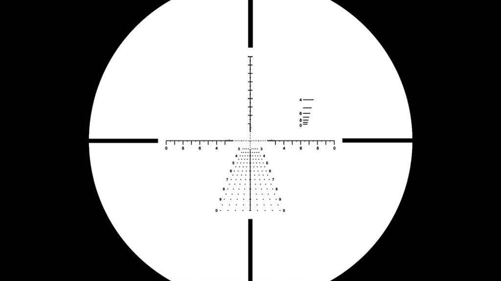 The GLx 4-16x50mm FFP comes with a very versatile reticle.