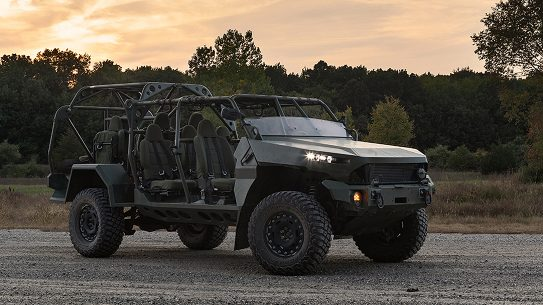 The GM Defense ISV serves as a quick, nimble troop carrier.