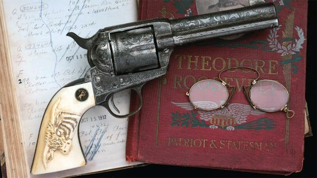 A Teddy Roosevelt used Colt Single Action Army recently brought $1.4 million at auction.