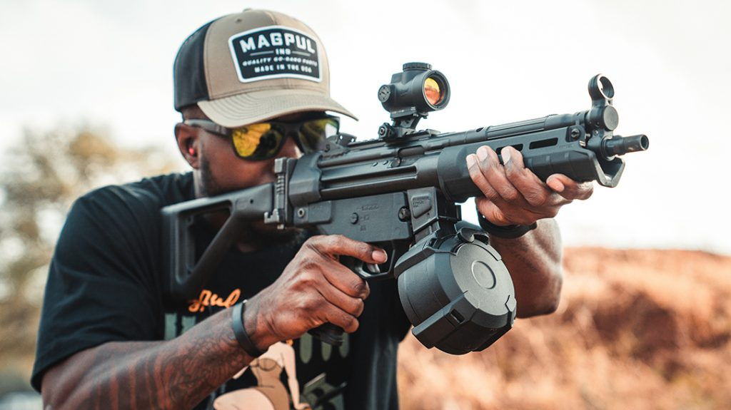 The Magpul PMAG D-50 now accommodates HK 94 and MP5 carbines and pistols.